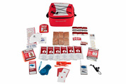 Pal survival kit in red carry bag